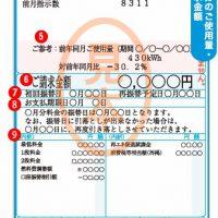 電気料金の例